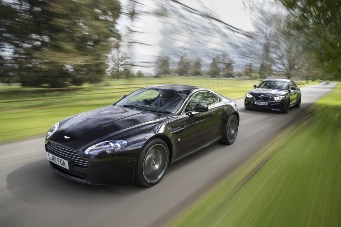 Autocar cover story: Old Master, Young Gun - Used Aston Martin V8 Vantage vs New BMW M2 by Richard Webber (photo credit: Stan Papior)